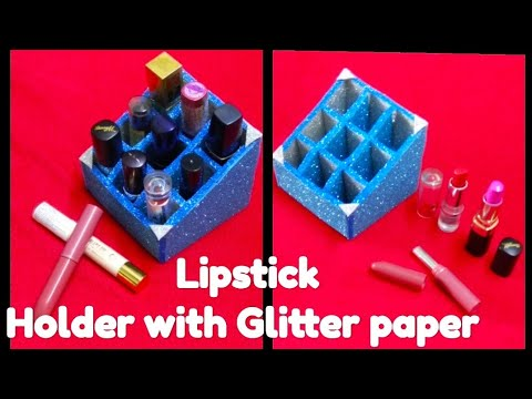 5-Minute Crafts with paper | paper crafts | DIY Lipstick Holder With Glitter Paper