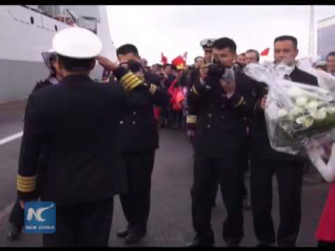 Chinese naval ships first visit Finland