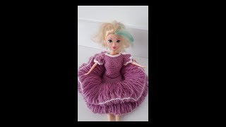 #Barbi bebeğe yapımı elbise örgüsü yapımı