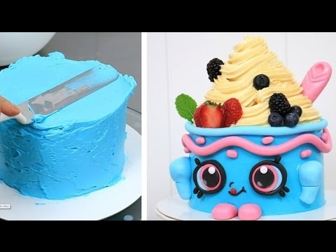 SHOPKINS CAKE Yo Chi The Frozen Yogurt KAWAII Cake By CakesStepbyStep