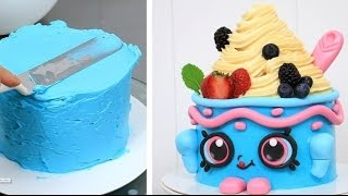 SHOPKINS CAKE Yo-Chi The Frozen Yogurt KAWAII Cake  by CakesStepbyStep