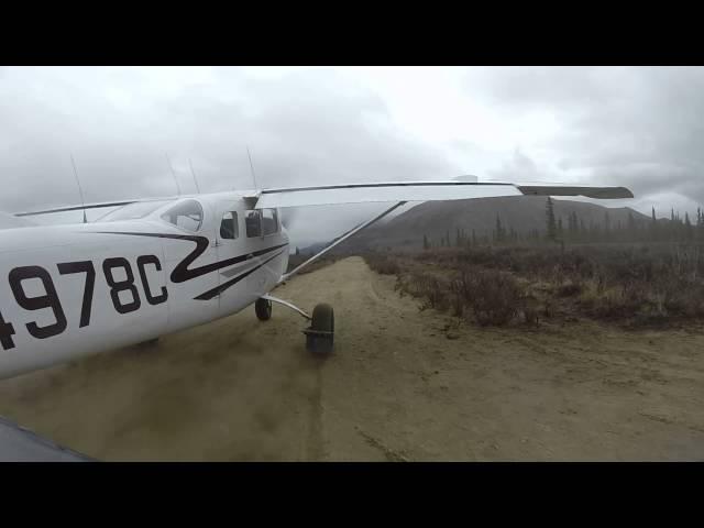 Cessna 206 departing Horsefeld airstrip
