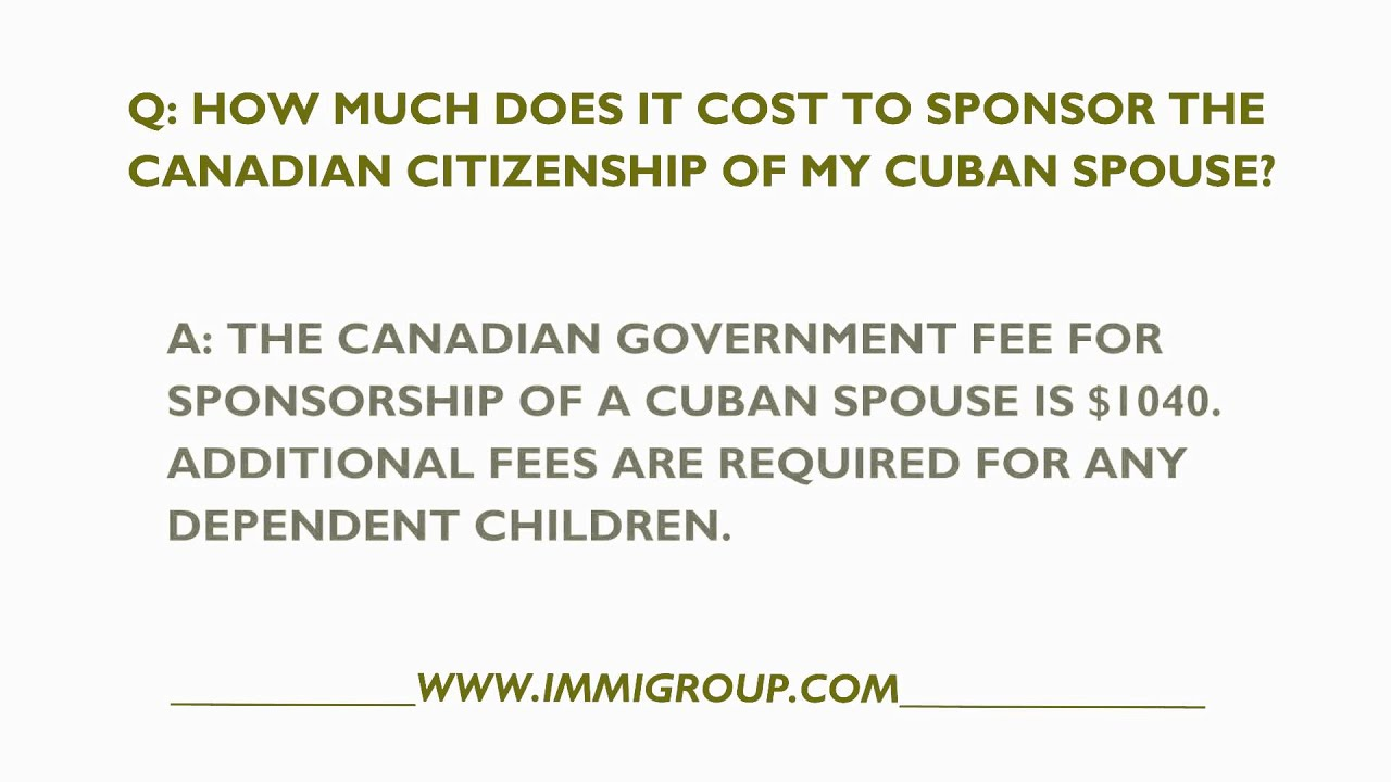 Sponsoring a cuban to canada
