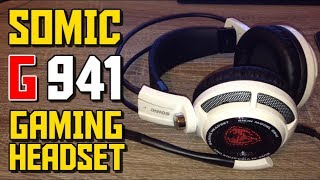 sOMIC G941 Gaming Headset! - Unboxing and Review (MIC TEST)