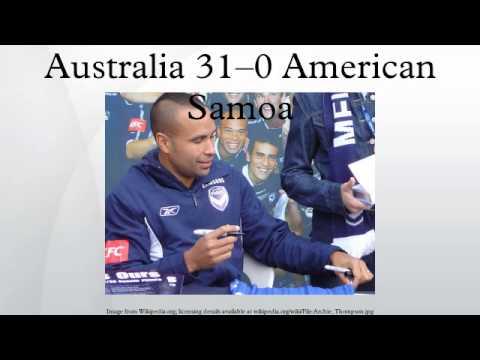 Australia 31–0 American Samoa