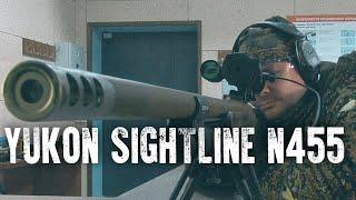 Обзор ночного прицела Yukon Sightline N455, стрельба на 100 и 300 метров.