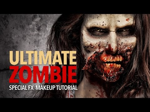 Ultimate zombie special fx makeup tutorial