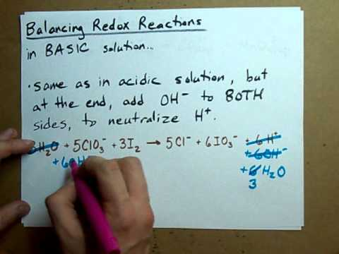 Balance a Redox Reaction (BASIC solution) - YouTube