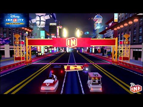 Disney Infinity 3.0 San Fransokyo Circuit Toy Box Speedway gameplay |