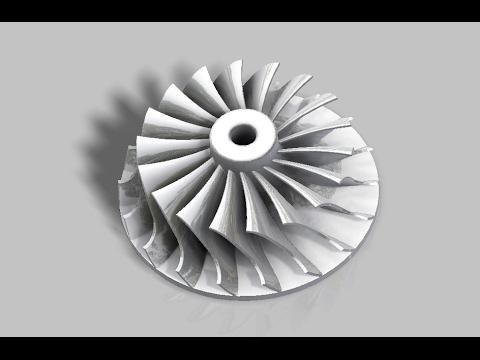 Autodesk Inventor: Turbocharger Impeller