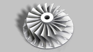 Autodesk Inventor: Turbocharger Impeller