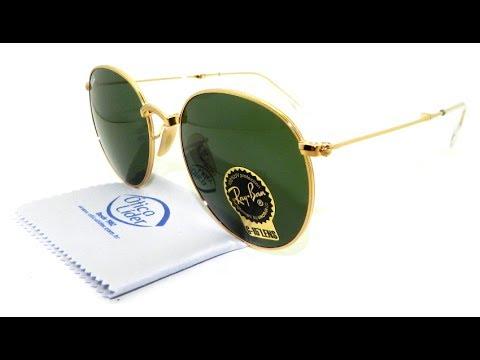 3aeb398fe Óculos de Sol Ray-Ban Round Dobrável g15 RB3532 001 53 - YouTube
