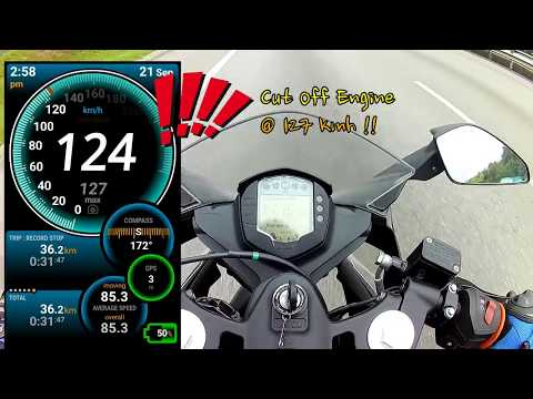 My KTM RC 200 actual speed using Ulysse Speedometer - Android Apps