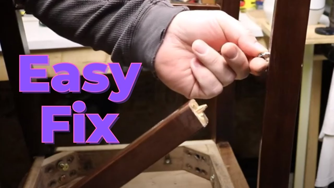 How To Repair A Chair Or Bar Stool