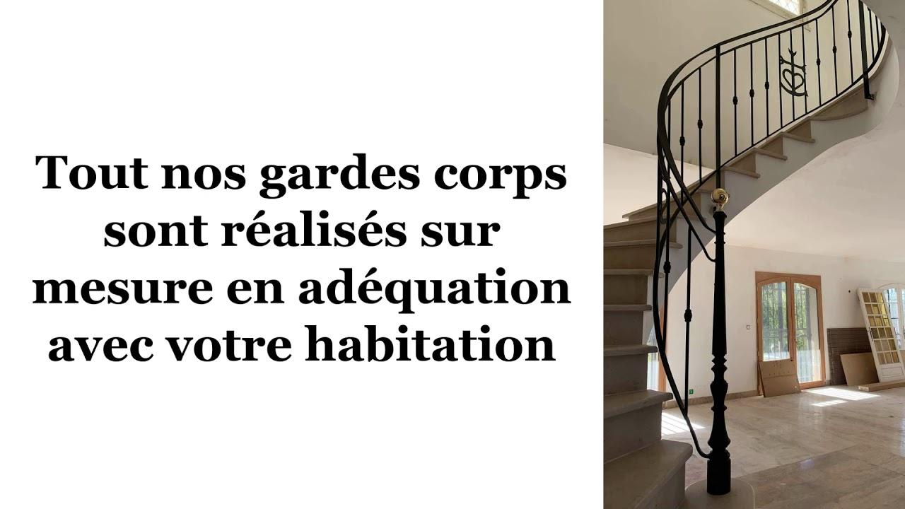 Garde corps sur escalier en pierre