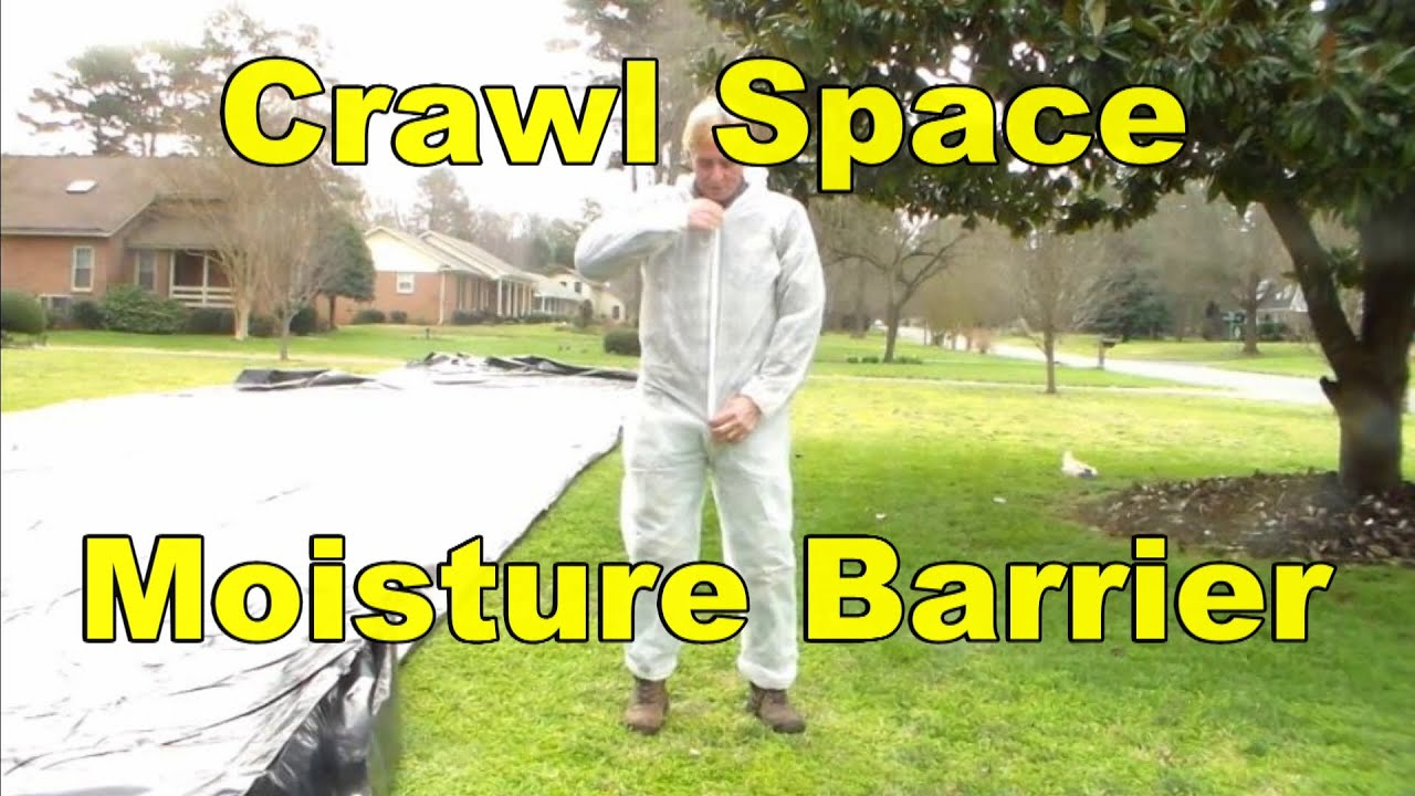 How to install moisture barrier in crawl space youtube solutioingenieria Gallery