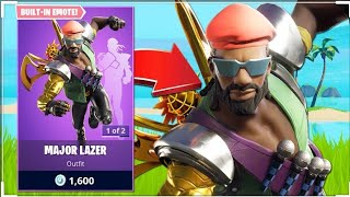 PLAYING WITH THE SKIN OF MAJOR LAZER-* SPOILER * GAVE BAD.. | FORTNITE