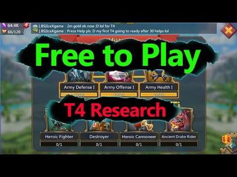 Lords Mobile Free To Play T4 Research