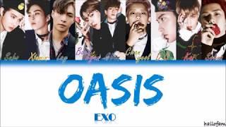 EXO (엑소) – '오아시스' (Oasis) [Han/Rom/indo] Color Coded Lyrics