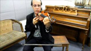 How to Play Iranian / Persian Violin, Lesson 1 by Loghman Adhami, International Music School