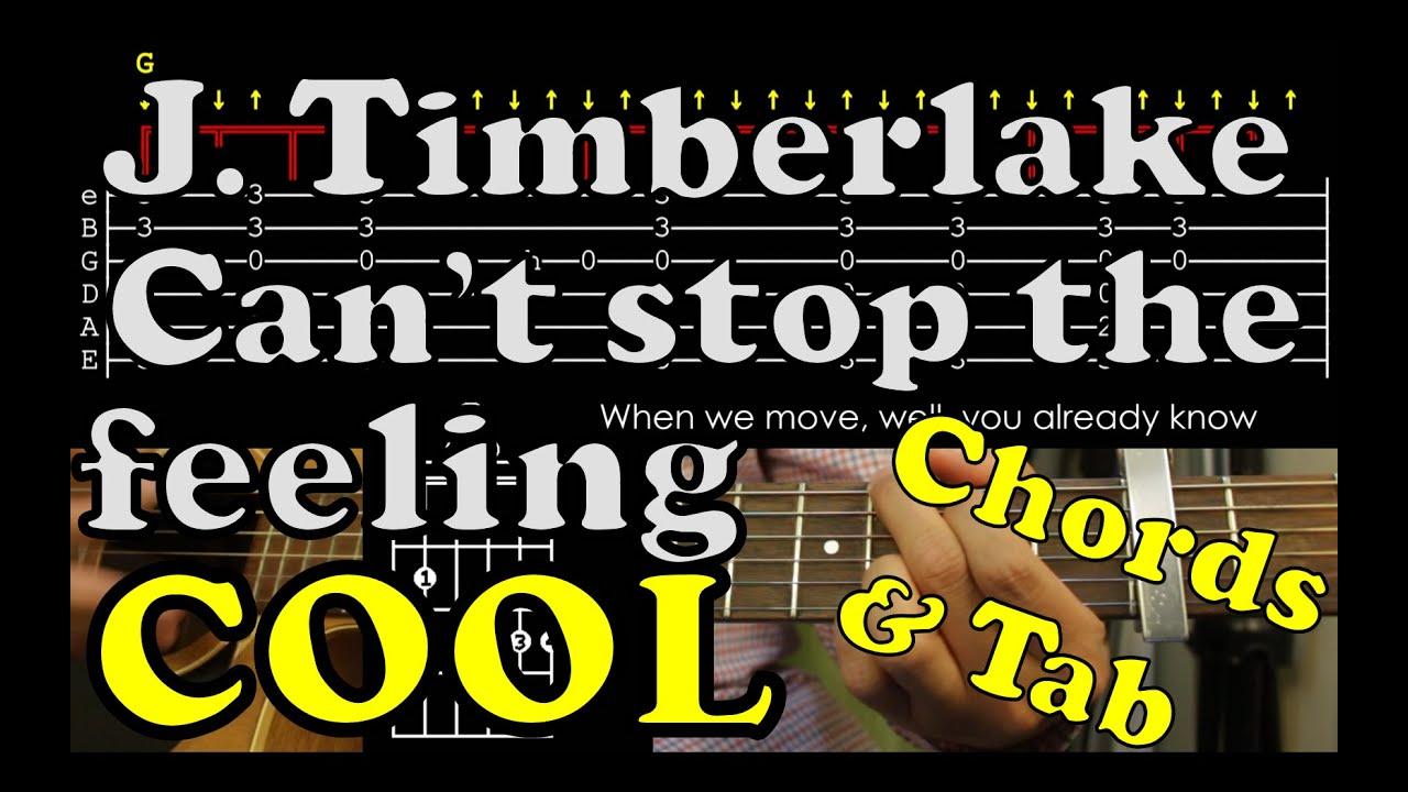 Cant Stop The Feeling Justin Timberlake Guitar Accord Tab Chord