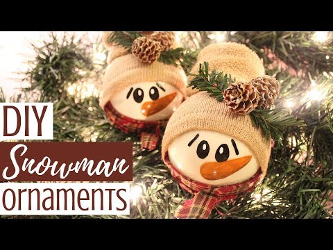 DIY SNOWMAN ORNAMENTS | Creative Christmas Challenge
