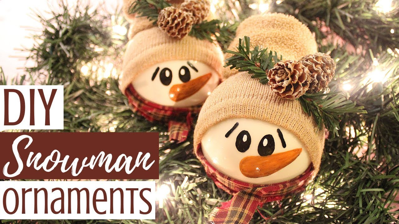 Diy Snowman Ornaments Creative Christmas Challenge
