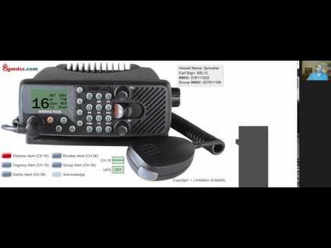 VHF ASN Mayday Suisse, Radio SImrad RD68, Nautischool Network, simulator egmdss