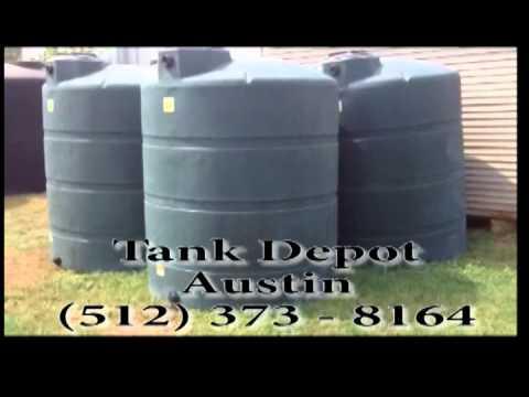 1000 Gallon Green Water Tank Austin TX & 1000 Gallon Green Water Tank Austin TX - YouTube