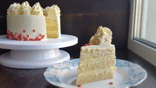 "Торт ""БЕЛЫЙ БАРХАТ""💟ВЗБИТЫЙ ГАНАШ на белом шоколаде💟White velvet cake"