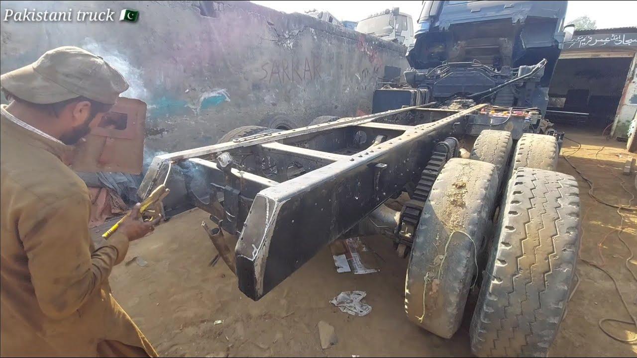 Nissan dumper restoration, truck restoration and chassis repair