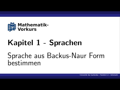 [K1] Sprache aus Backus-Naur-Form bestimmen