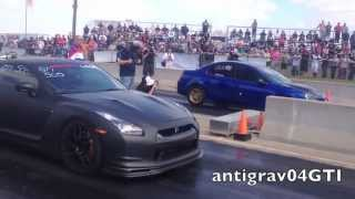 TX2K13 - Close Call for SRT4 vs GTR!!!