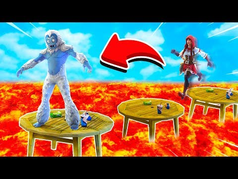 FORTNITE *NEW* FLOOR IS LAVA CHALLENGE! (Fortnite Creative)