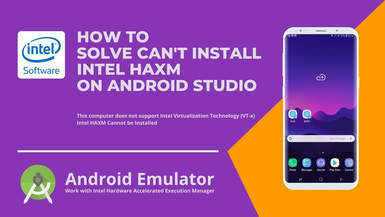How to Fix Intel HAXM Android Studio Installation Error – This Computer Does Not Support Intel VT-x
