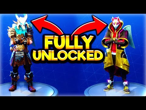 HOW TO FULLY UPGRADE *RAGNAROK* + *DRIFT* SKINS! Fortnite SEASON 5