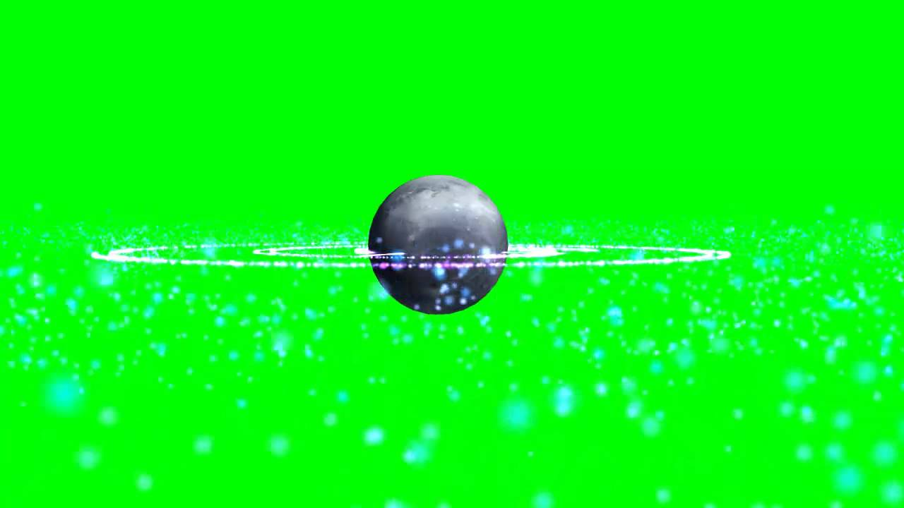 planet with plasma explosion with green screen template green