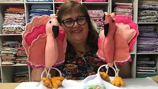 Porta Pano de Prato de Flamingo
