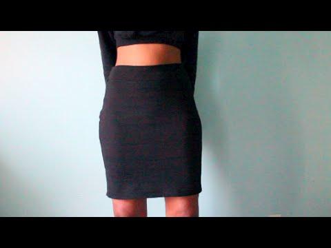 DIY Shirt Into Skirt - YouTube