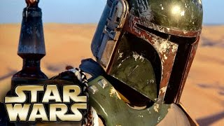 boba fett movie was officially being filmed by disney teaser trailer was to be revealed last year