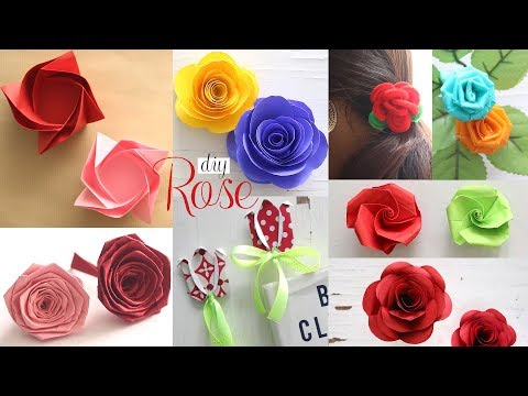 8 DIY Paper Roses | Paper flowers Tutorial
