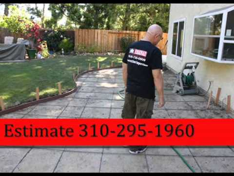 Lower Los Angeles Cement Paver call Shafran 310 295 1960
