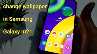 How to change default wallpaper in Samsung Galaxy m21 | wallpaper change kaise kare