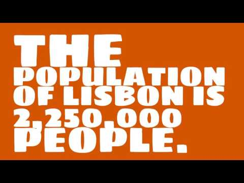 What is the land area of Lisbon?