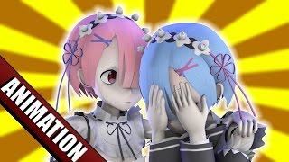 In this Source Filmmaker (SFM) Re:Zero anime parody, Ram tries to c...