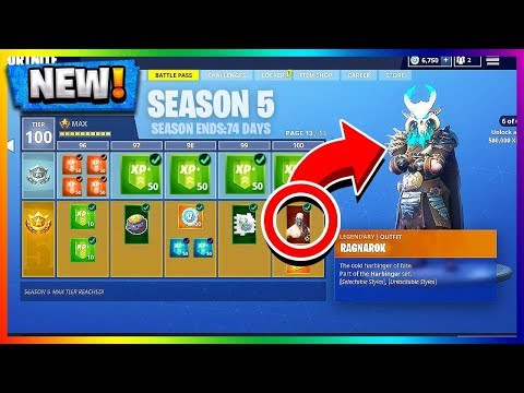 *NEW* SEASON 5 BATTLE PASS TIER 100 UNLOCKED! RAGNAROK UPGRADES! Fortnite Battle Royale