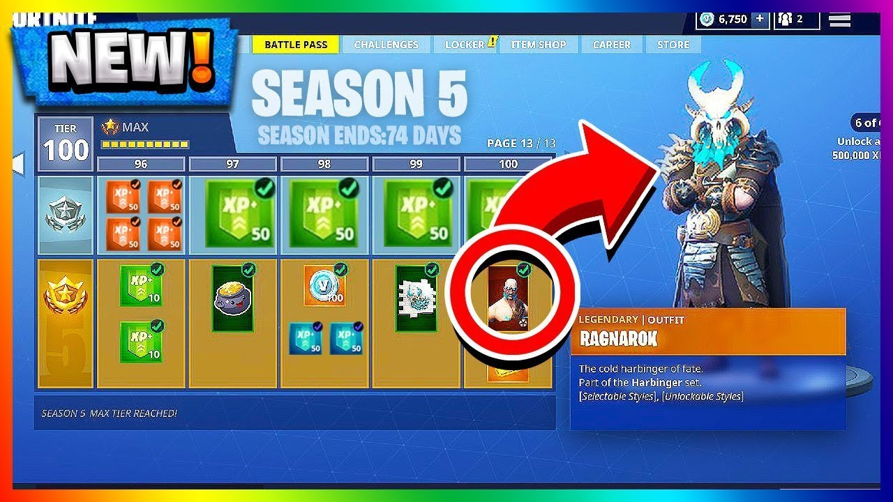New Season 5 Battle Pass Tier 100 Unlocked Ragnarok Upgrades