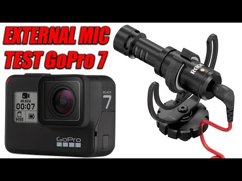 GoPro Hero 7 Black External Rode Mic Text | Microphone Adapter