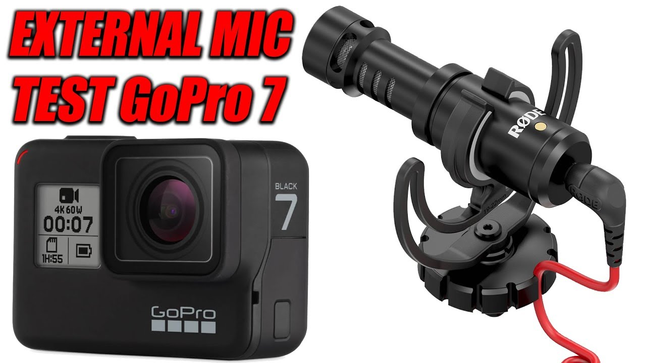Gopro Hero 7 Black External Rode Mic Text Microphone Adapter Youtube