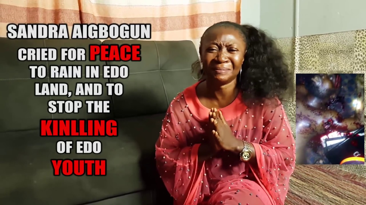 Download Sandra Aigbogun Cried Out For Peace To Rain In Edo Land And To Stop The Killing Of  Edo Youth.